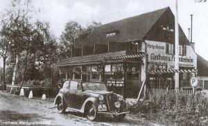 Das Restaurant Forsthaus wurde nach einem Brand 1930 neu gebaut